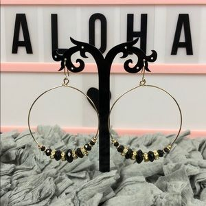 Black and gold earrings